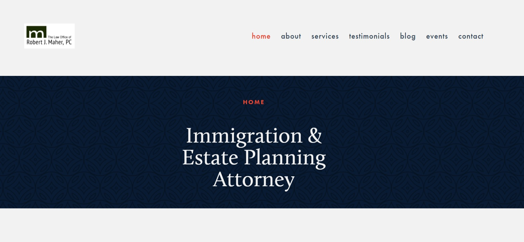 Example of website built for a client in January 2018.