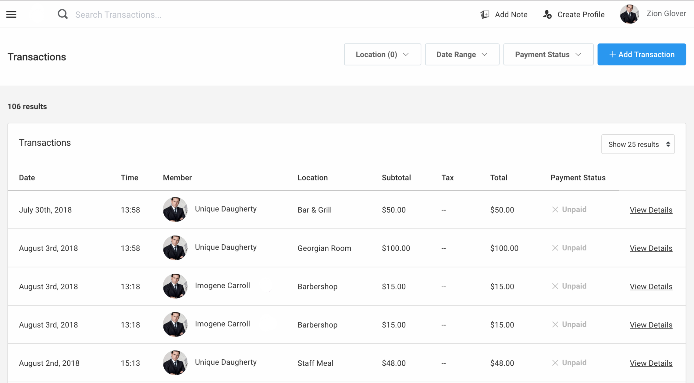 Transactions - See what your members are buying, where and when, whenever you want however you want.Laura's real time interface can show you transactions as they're entered by your team, and as they come in from 3rd party tools.