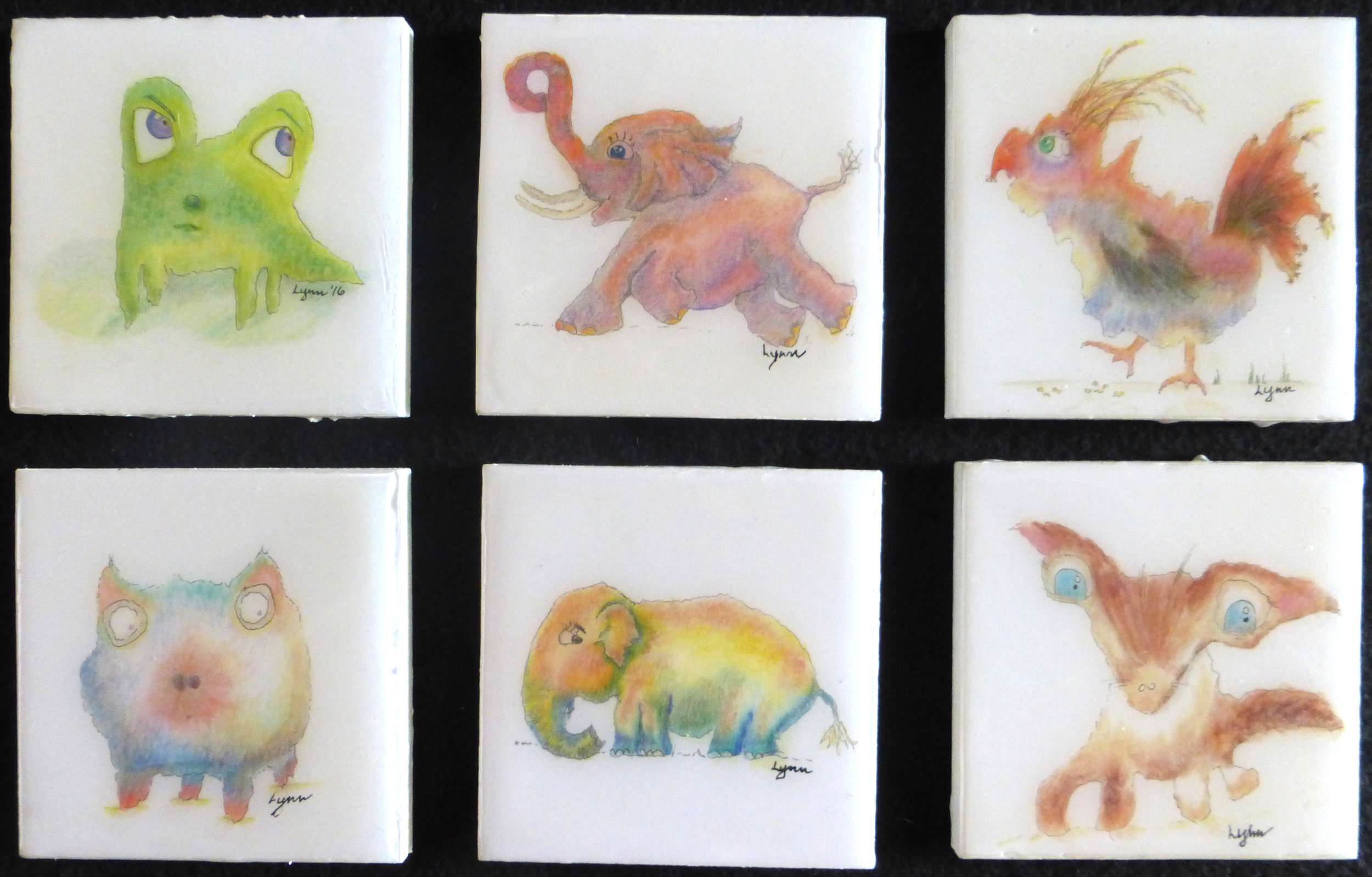 6 animals in acrylic pour-4x4 each.jpg