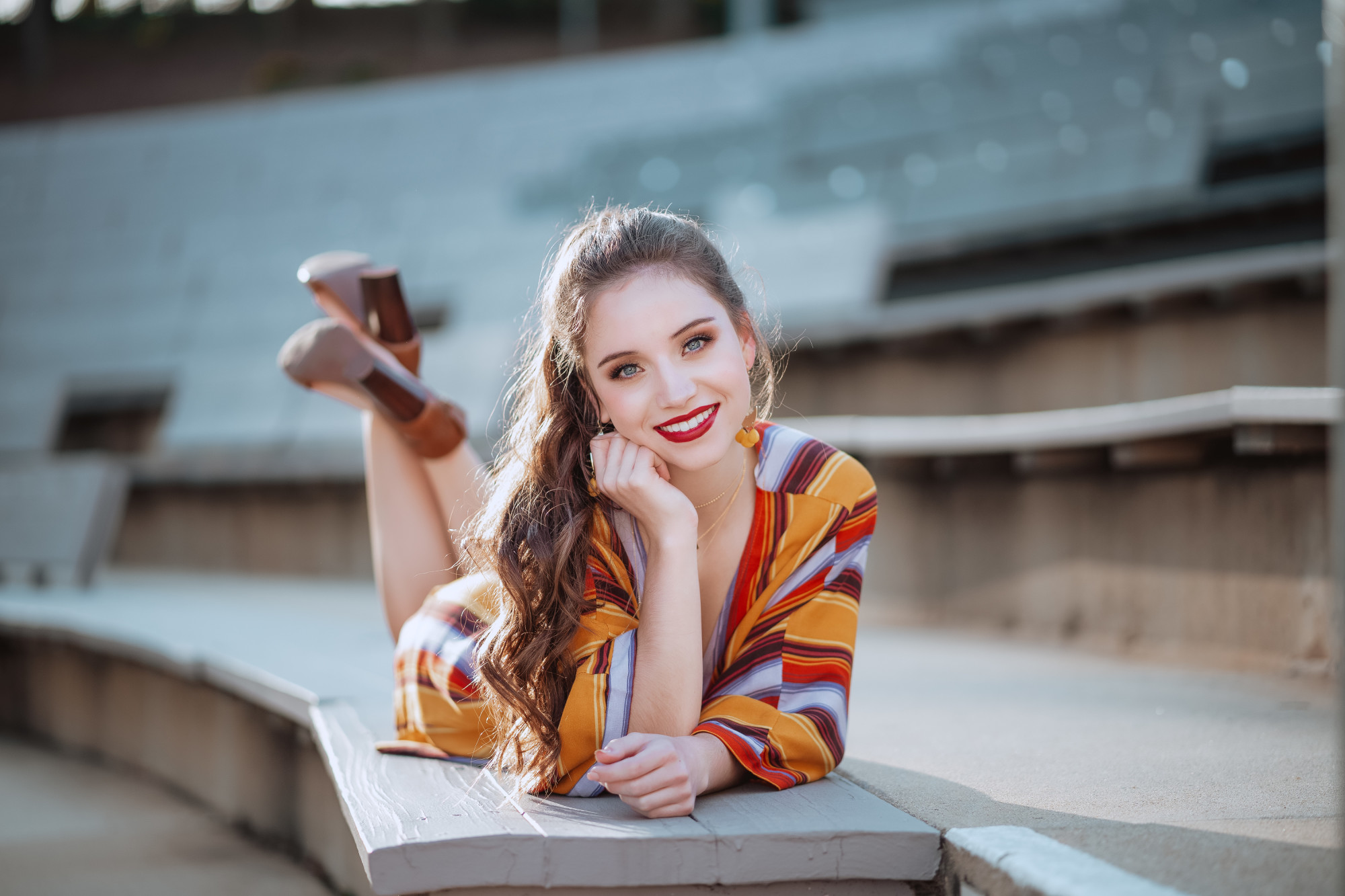 "- ""My daughter had an incredible experience having her Senior Pictures with Emily. From the pre-photo fashion consults, the professional hair and make-up pampering, and the time and care Emily provided during the shoot...the entire experience made my daughter feel special. And the photos...wow."""