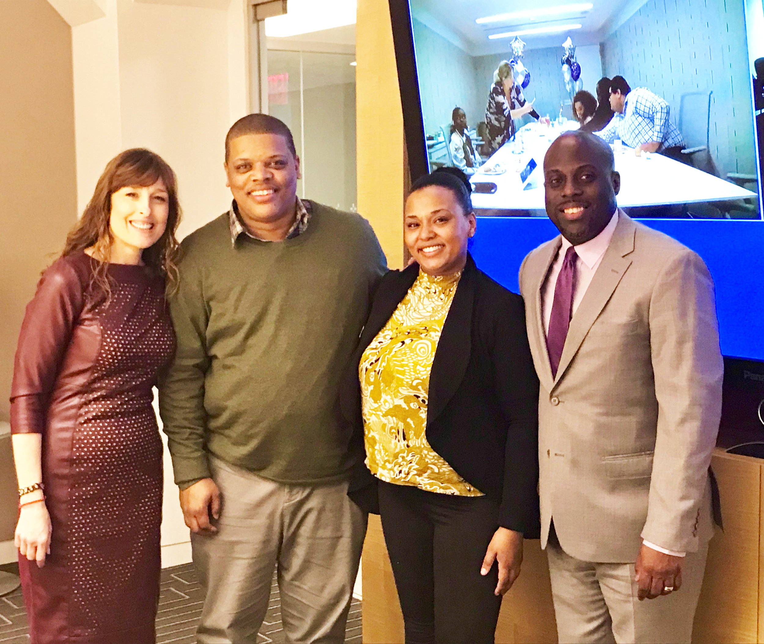 (L to R): Denise Strong, Antoine Galloway, Sophia Kirby, & Omar Roberts