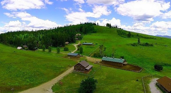 a bird's eye view of the ranch...
