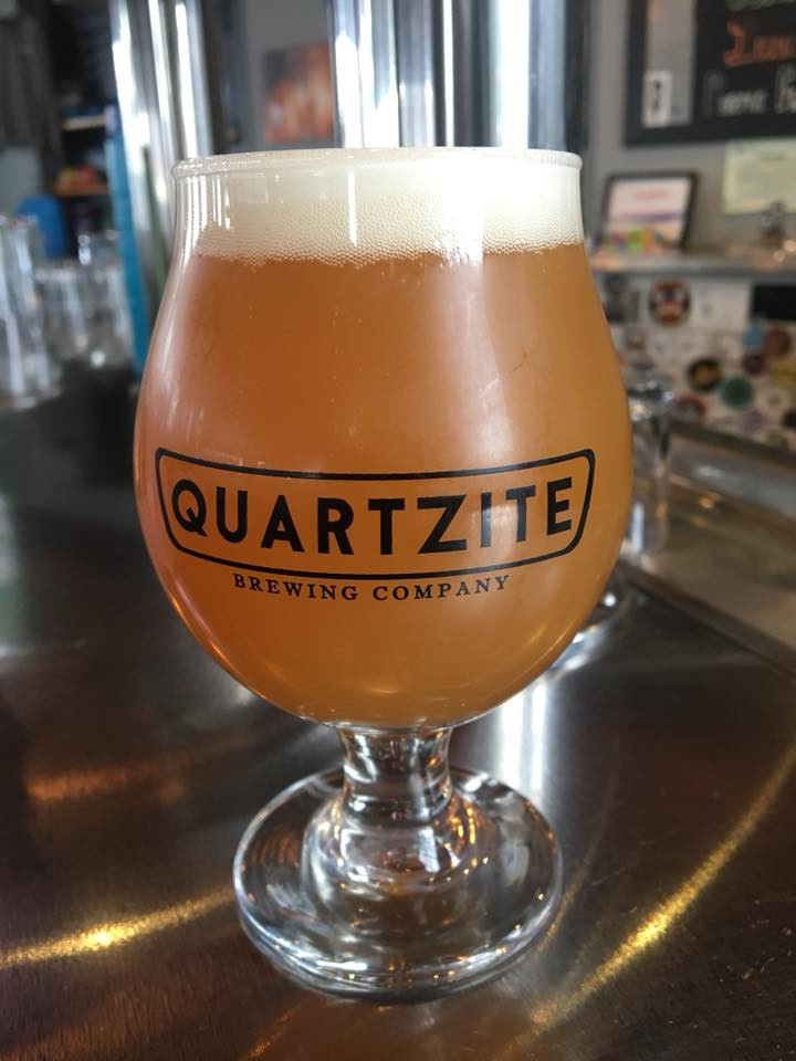 Power Peak Peach Sour, photo courtesy of Quartzite Brewing