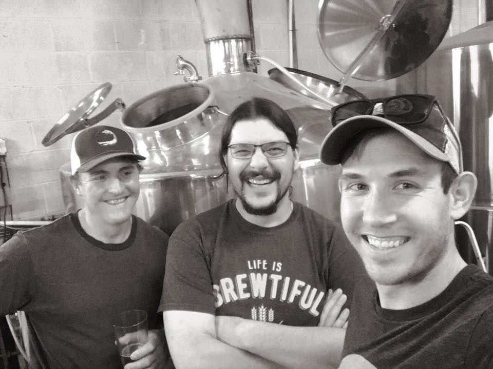 Brewer's Billy Burt (Republic Brewing) John Sullivan (Northern Ales) and Patrick Sawyer (Quartzite Brewing) rally up for a special collaboration sour.
