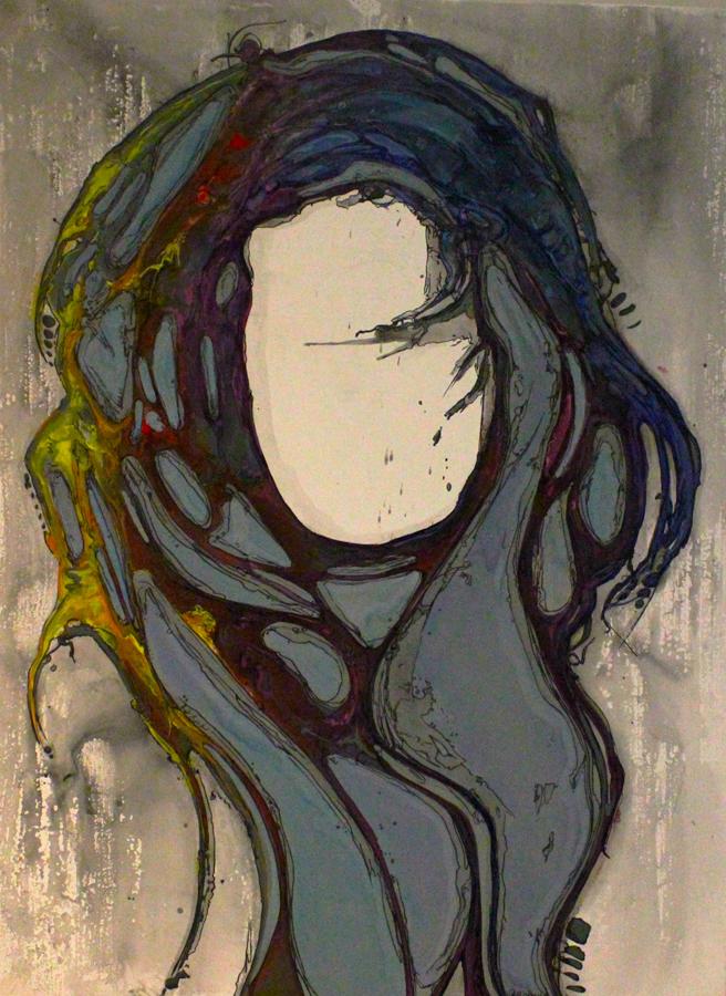 Waves of Beauty,  fluid acrylic on canvas