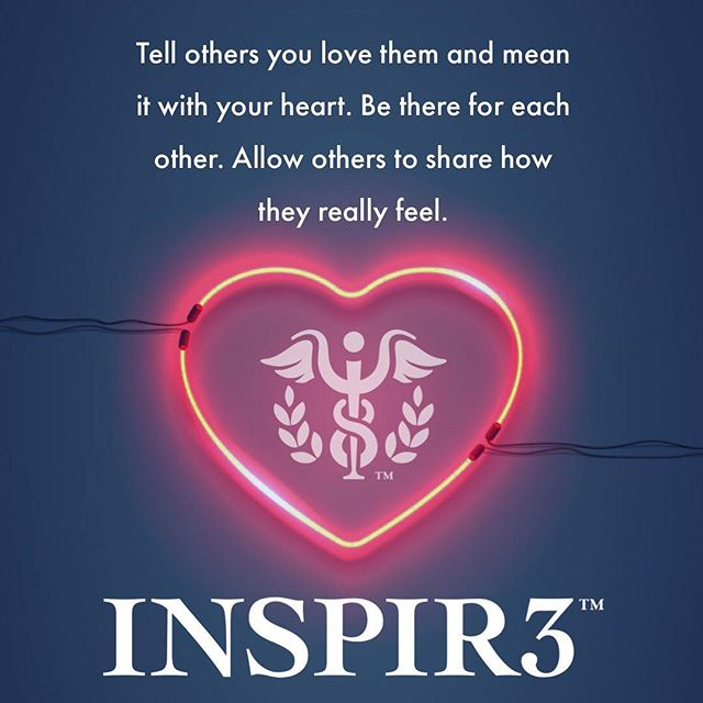 Tell others you love them and mean it with your heart. Be there for each other. Allow others to share how they really feel. #mentalhealth . . . . . #INSPIR3 #MentalHealthAwareness #helphealinghope #solution #mentalhealth #mentalhealthmatters #youmatter #mentalhealthsolution #inspire #mentalwellness #begreater #together #community #family #friends #bringmentalwellness #inspir3change #changecampaign