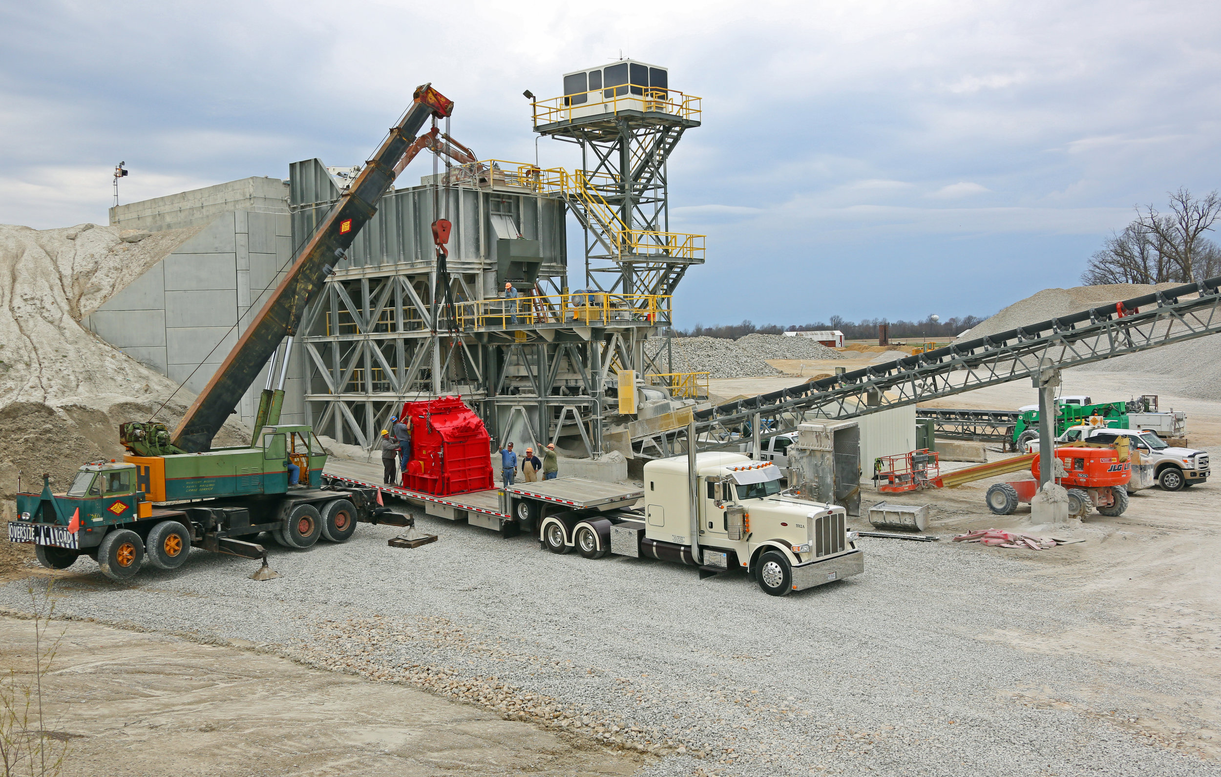 New Hazemag Impact Crusher Being Installed - March 2016