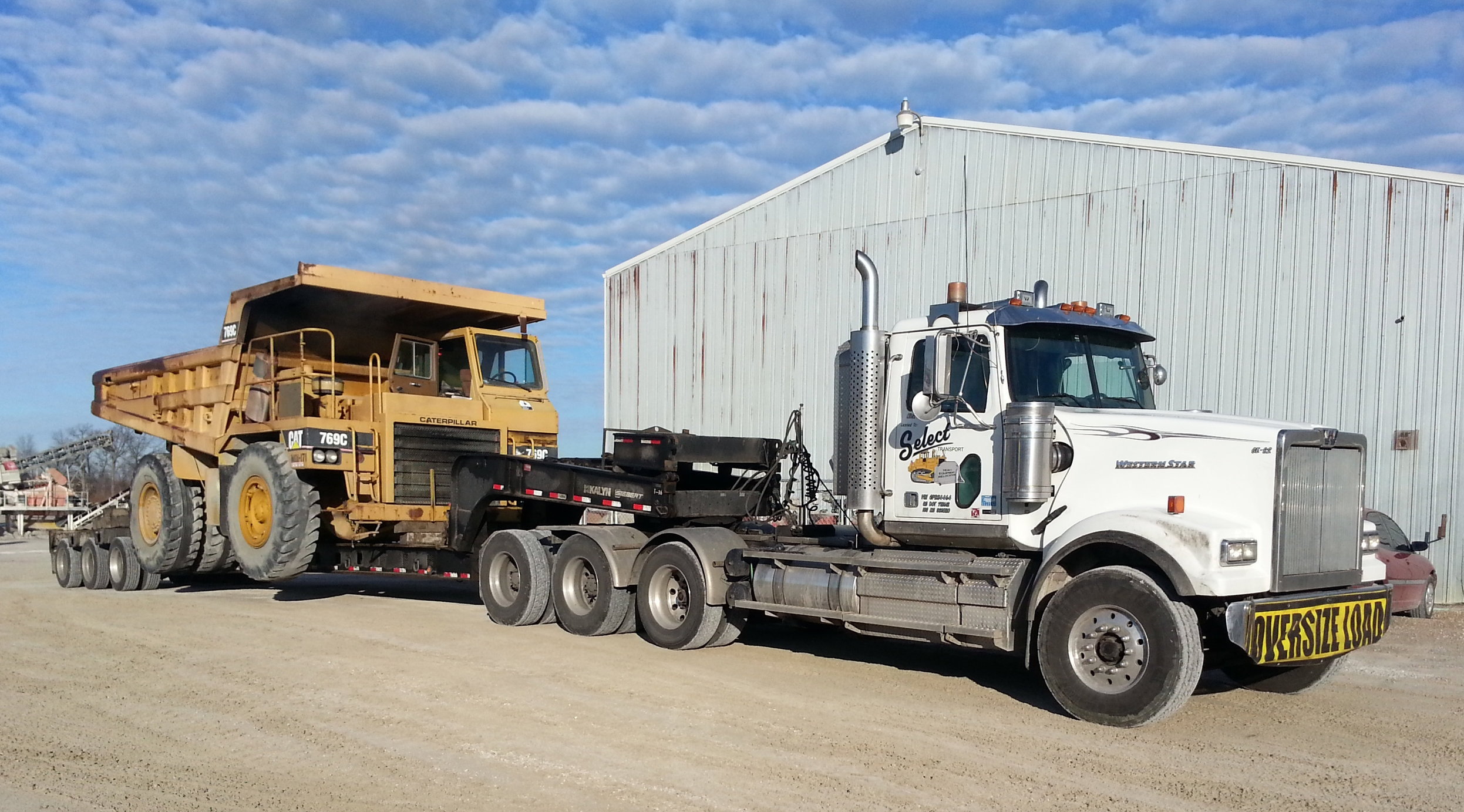 Delivery of Used Caterpillar 769C - January 2015
