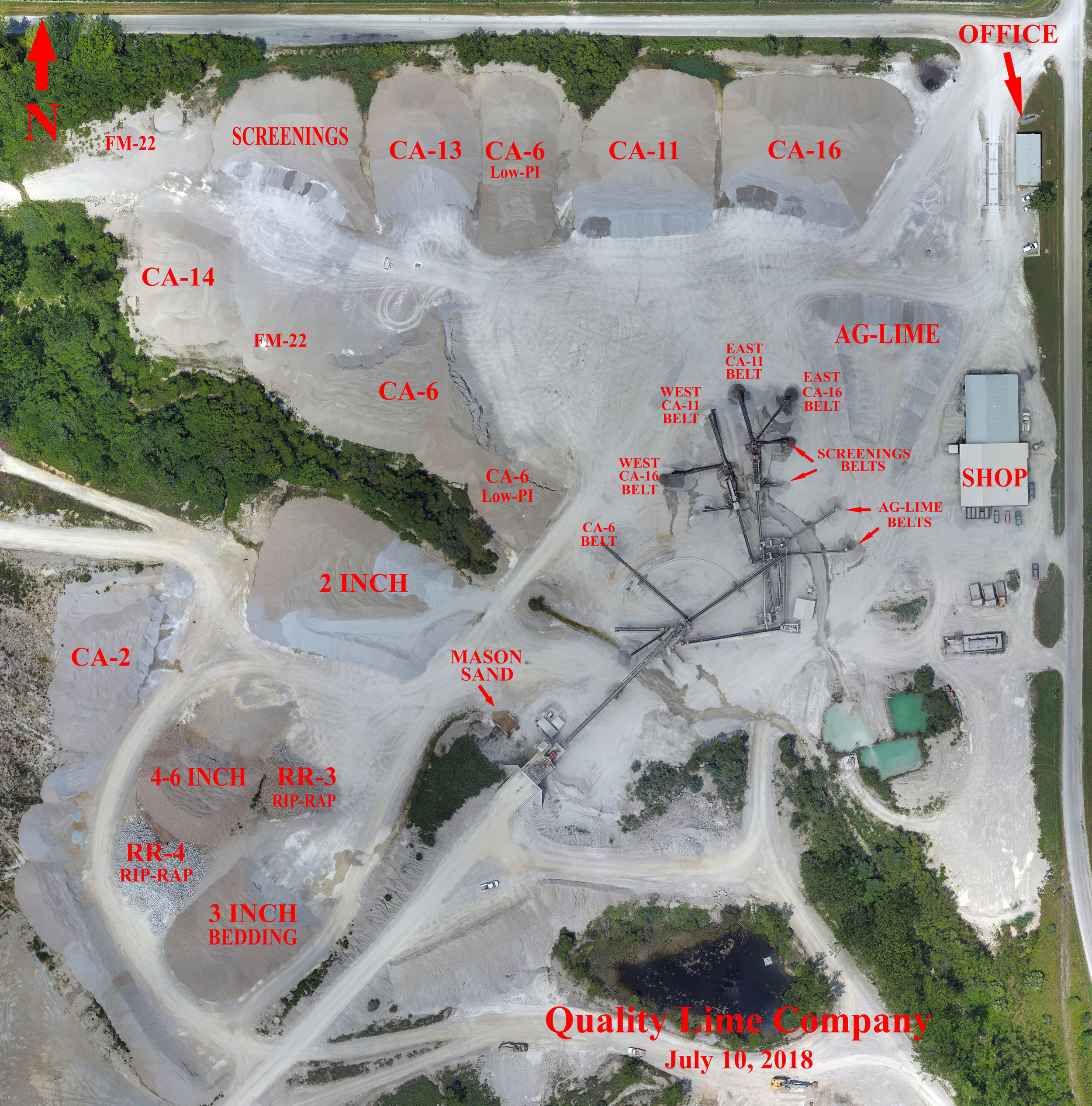 Overview of Stockpile Locations