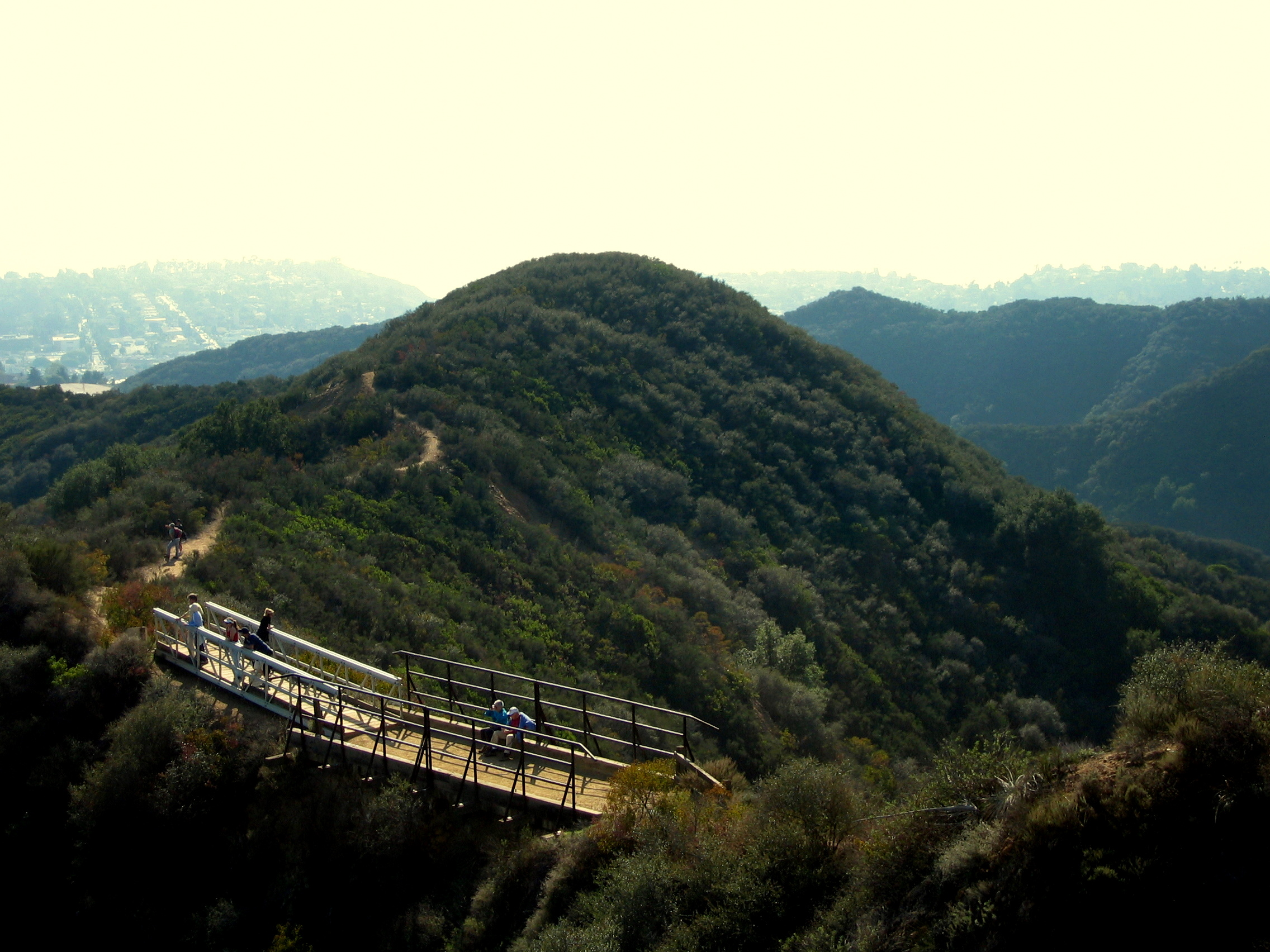 PEAK: Backbone Trail @ Will Rogers State Park - Difficulty:3/5Scenery: Sweeping views of the ocean, mountains and maybe Catalina Island!Fun Fact: Will Rogers,the famous actor for whom this park was named, was self-described as a