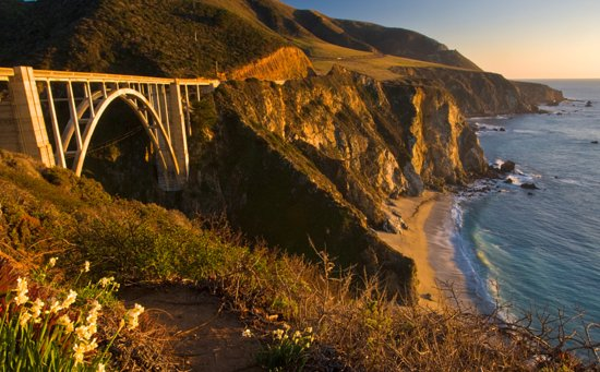 """PEAK: Big Sur - DIFFICULTY: 4/5SCENERY: wild beaches, lush redwood forests, seaside cliffs, fog, """"the most dramatic coastline in the world""""FUN FACT: In Switzerland, it's illegal to own just one guinea pig, because they get lonely."""