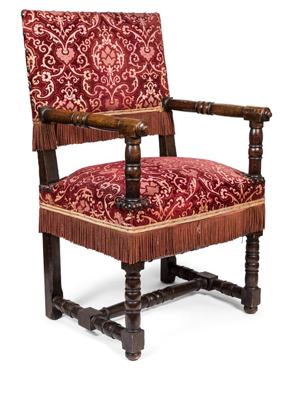 Late 19th Century French Oak Armchair