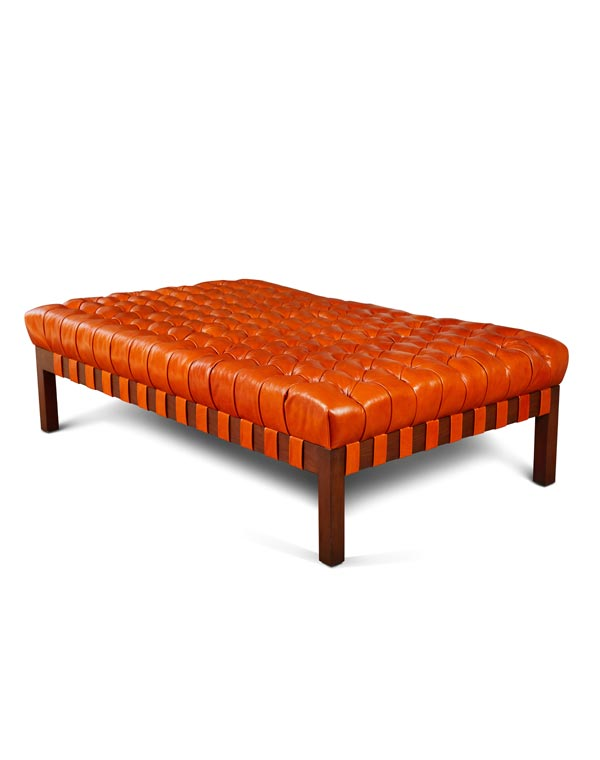 KS Design Tufted Leather Coffee Table