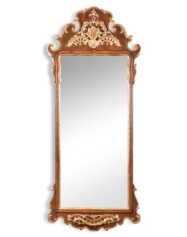 Antique Mahogany Georgian Style Mirror
