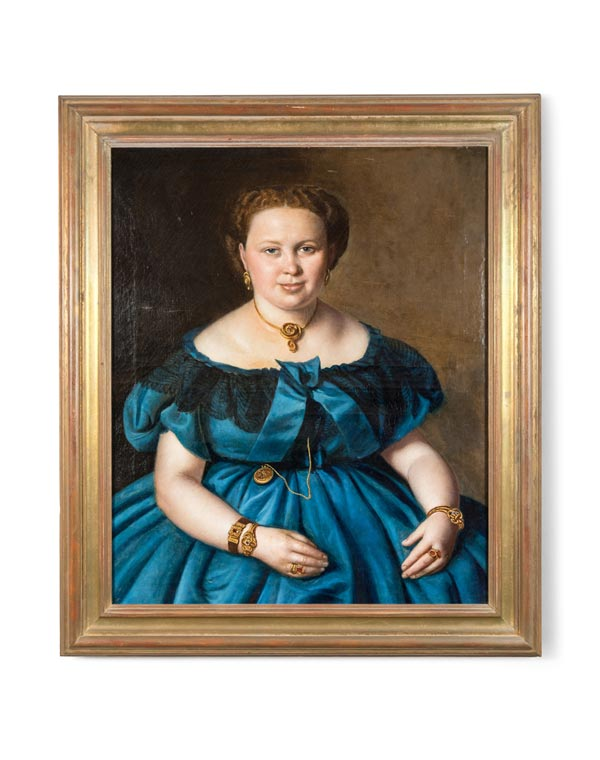European Mid 1800s Portrait of a Lady