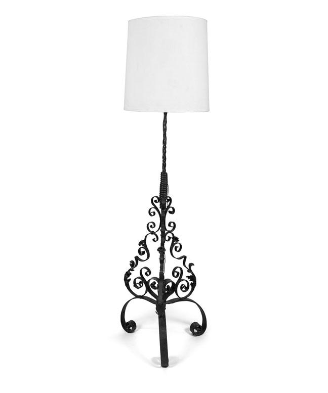 1920s Spanish Iron Standing Lamp