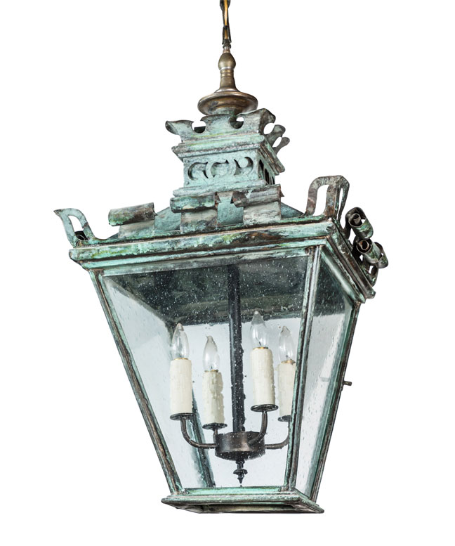 French Copper Hanging Lantern