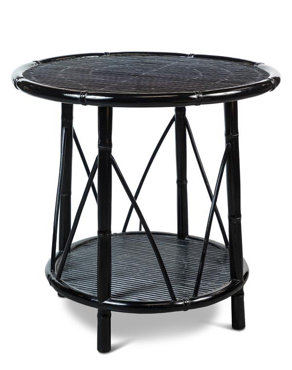 Round Plantation Style Occasional Table