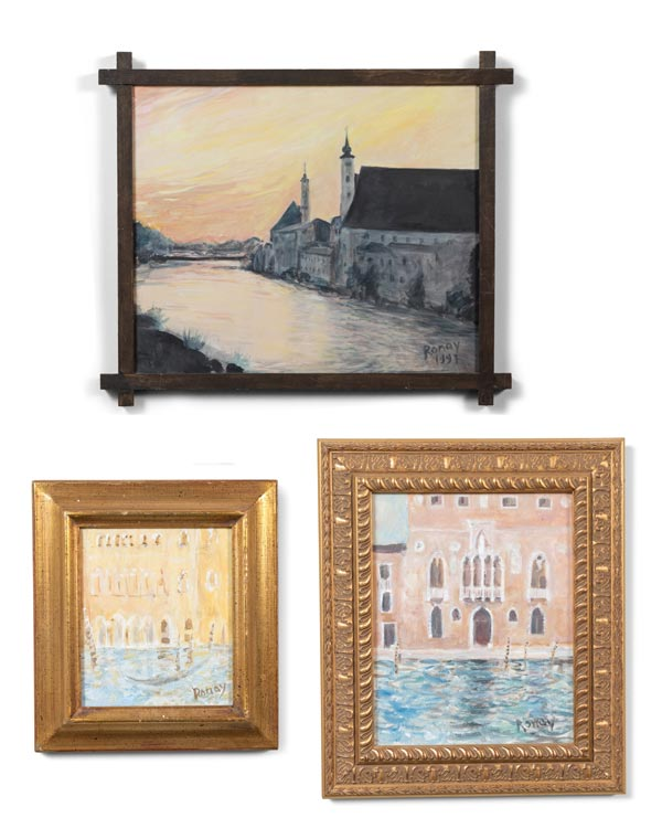 Collection of Oil on Canvas by Ilona Von Ronay