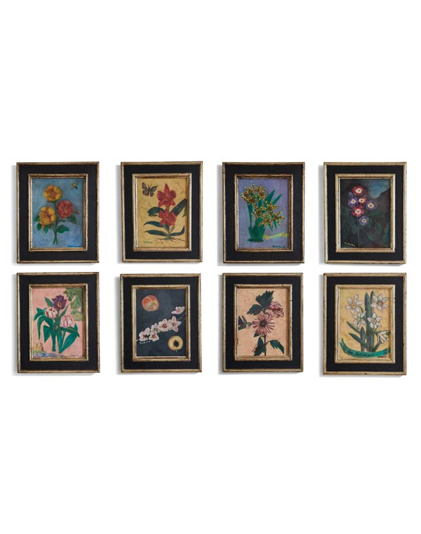 Botanical Oil on Canvas by Japanese artist Kakuko