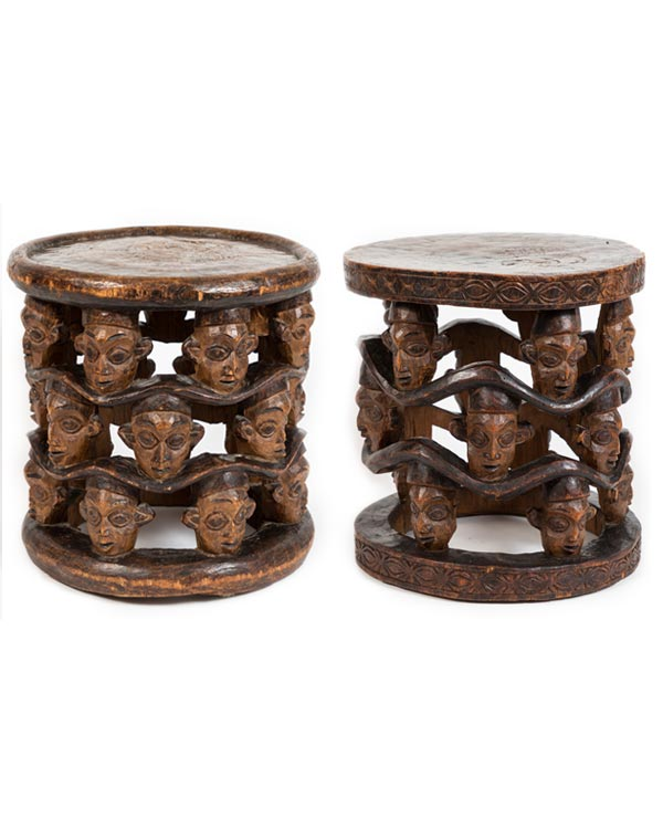 West African Chief Stools