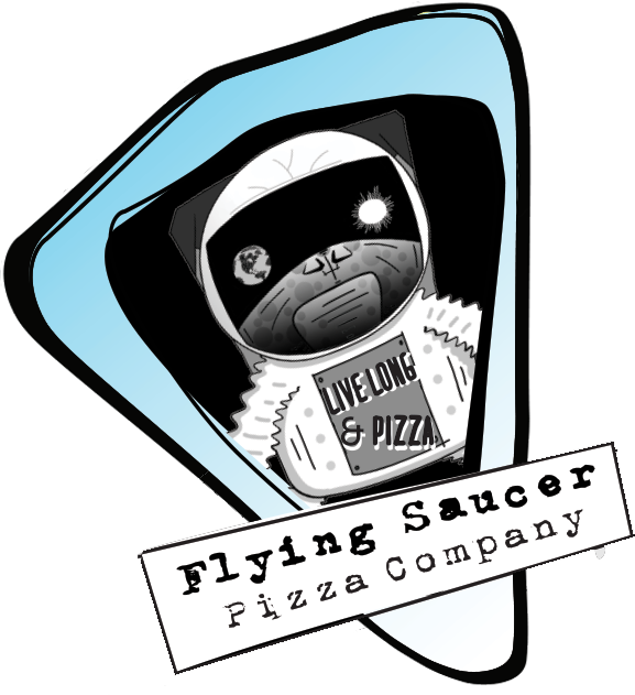 Out of this world pizza! Vegan, Gluten-free, & Traditional!   Live Long and Pizza!
