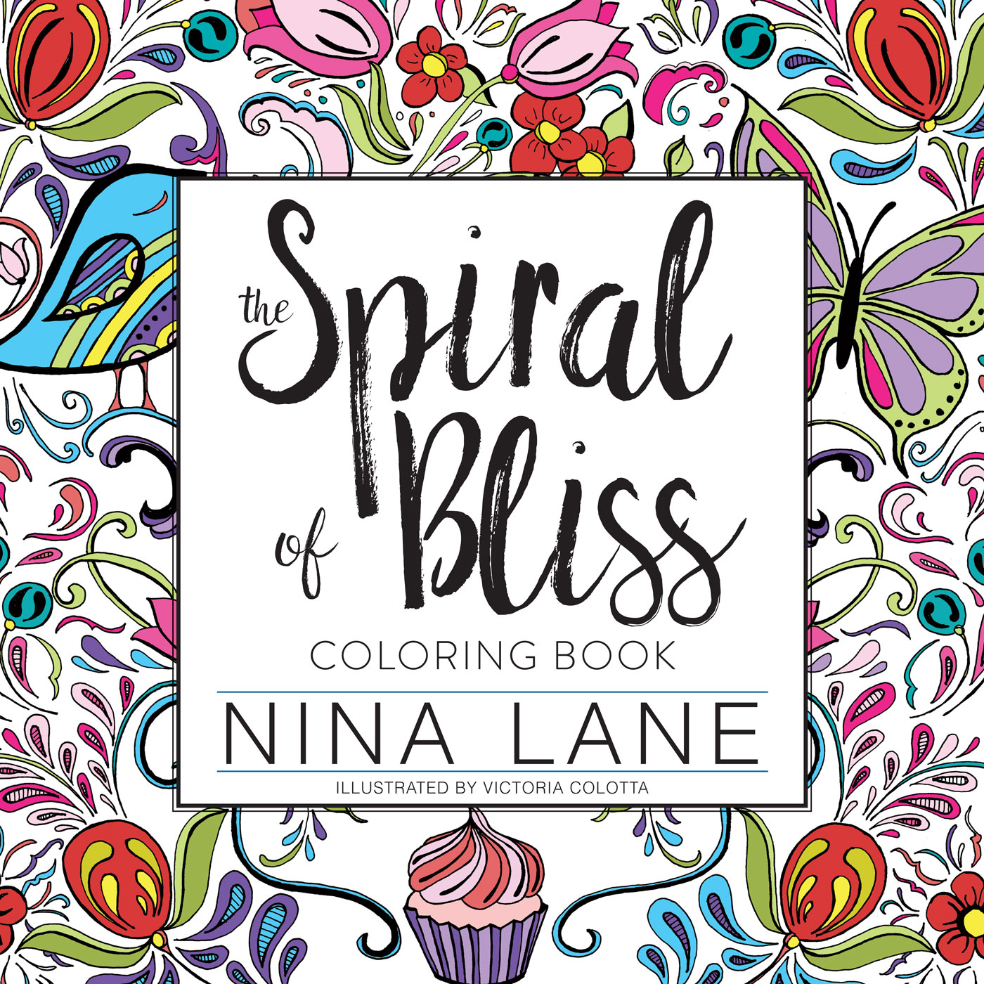 The SPIRAL OF BLISS COLORING BOOK IS LIVE!