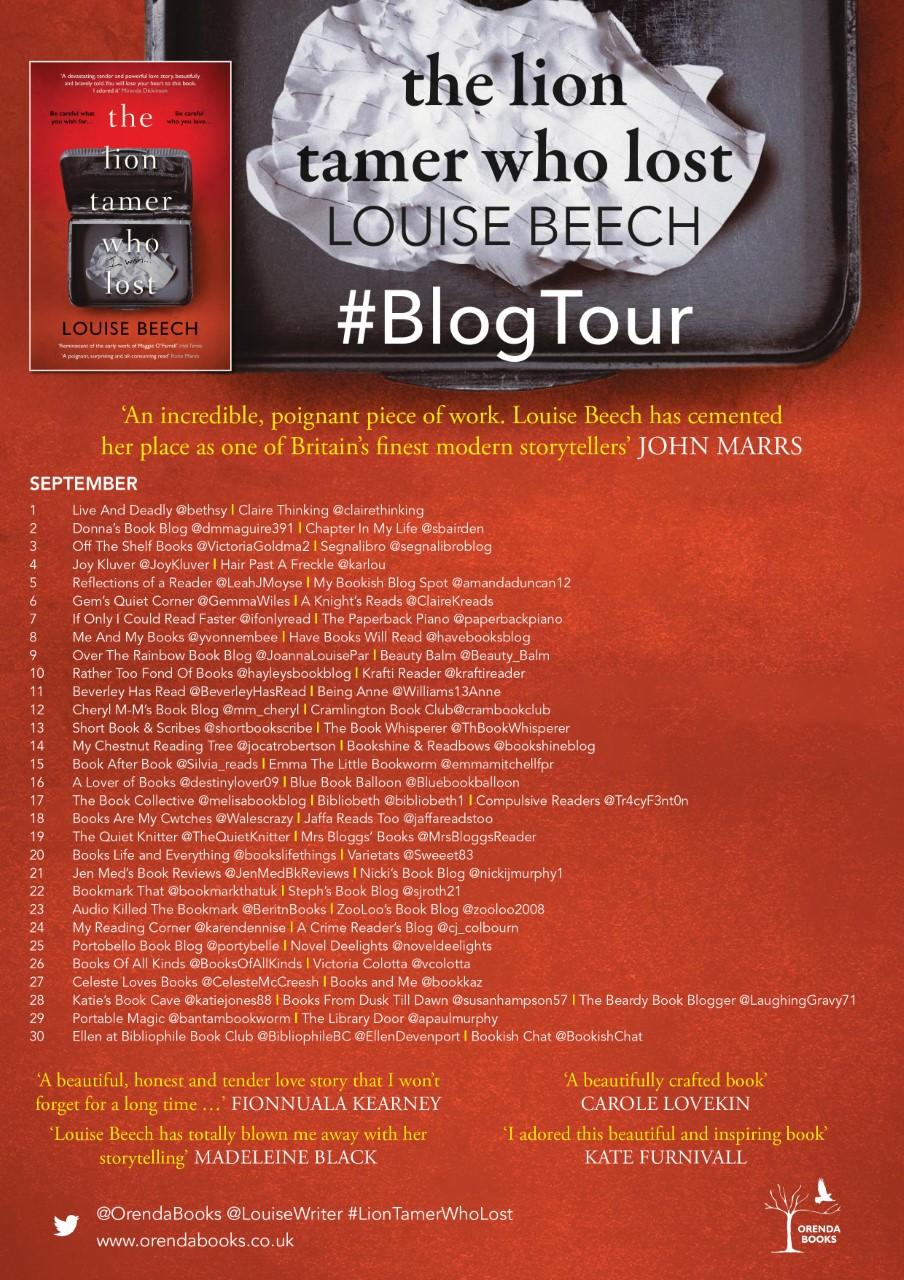 The Lion Tamer Blog Tour Poster