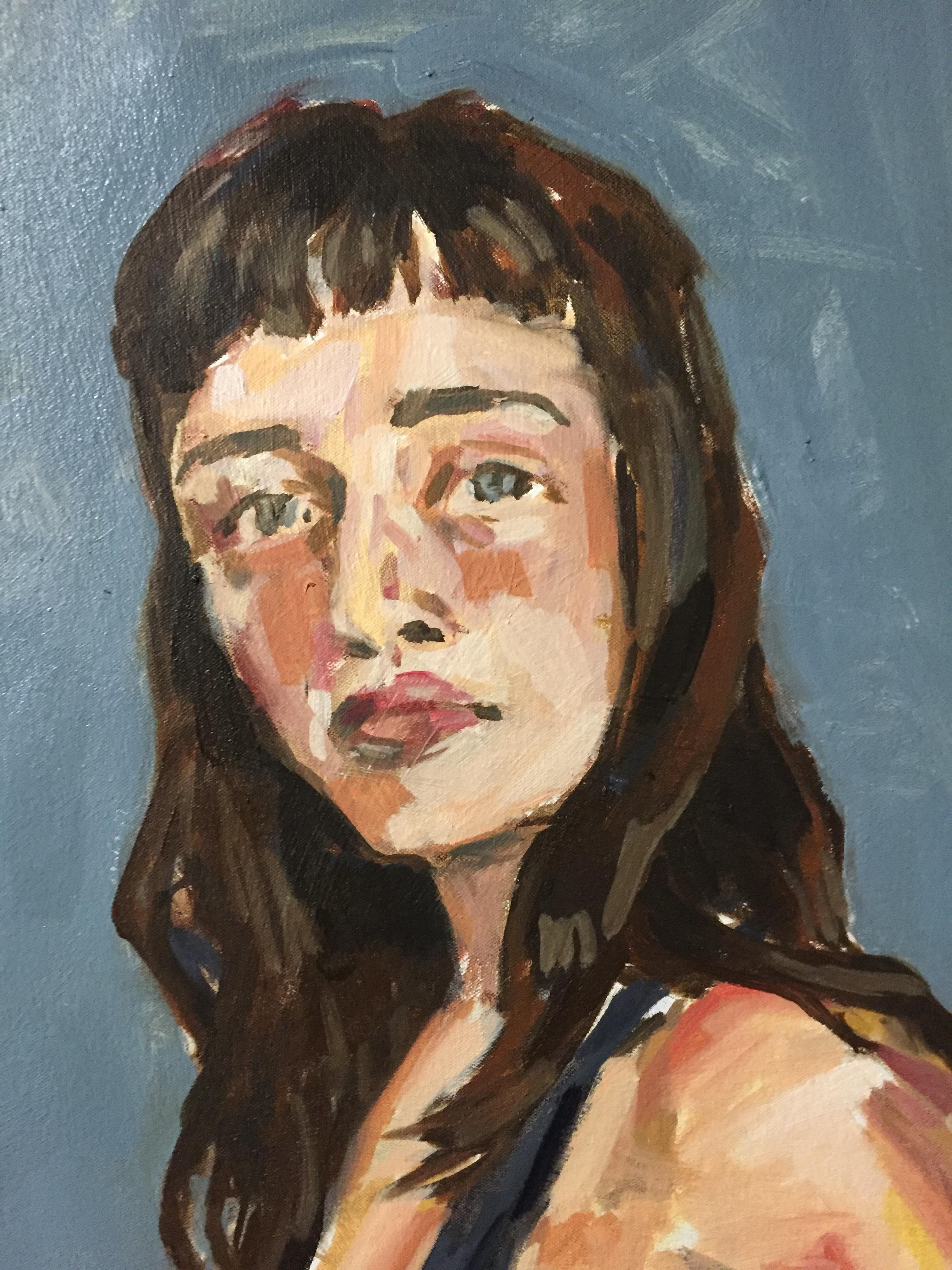 Megan with Mug - Detail