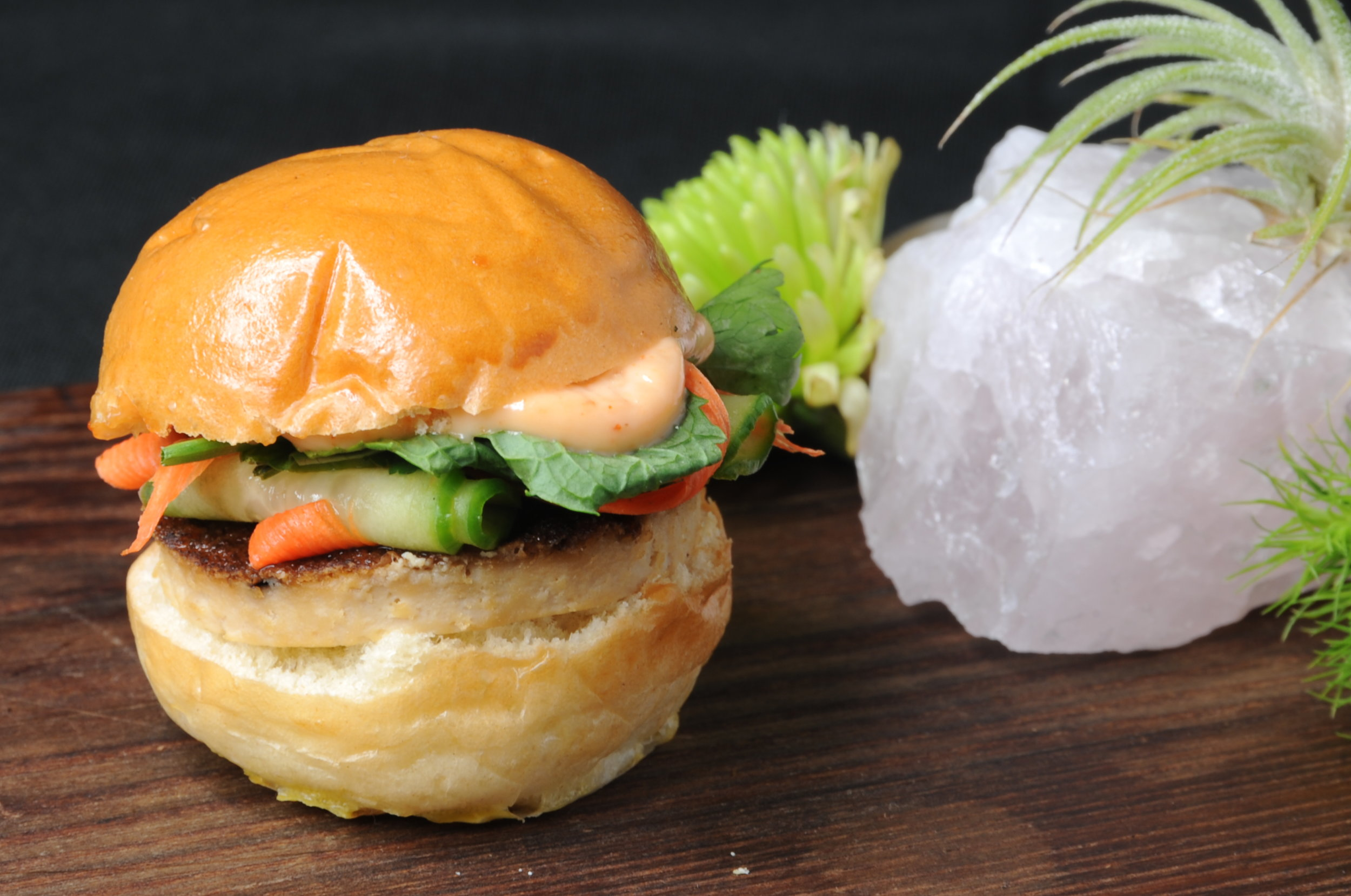 Barbecue tofu banh mi with housemade pickled carrots and cucumber