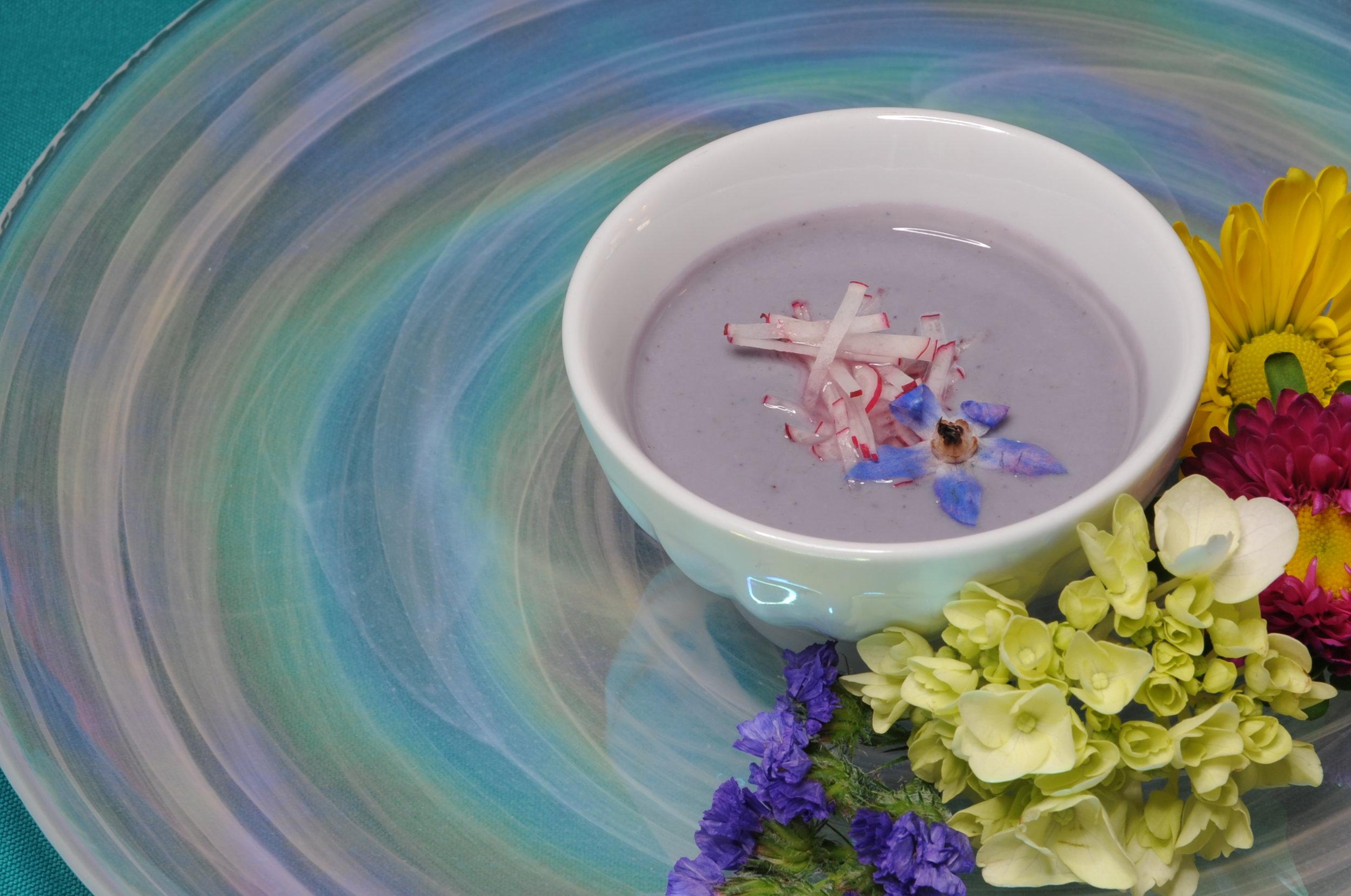 Chilled Purple Vichysoisse