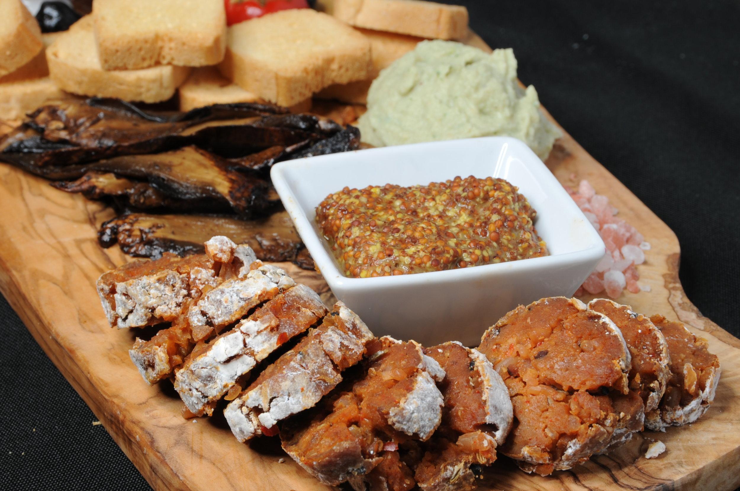 Vegan Charcuterie Board with Housemade Salami