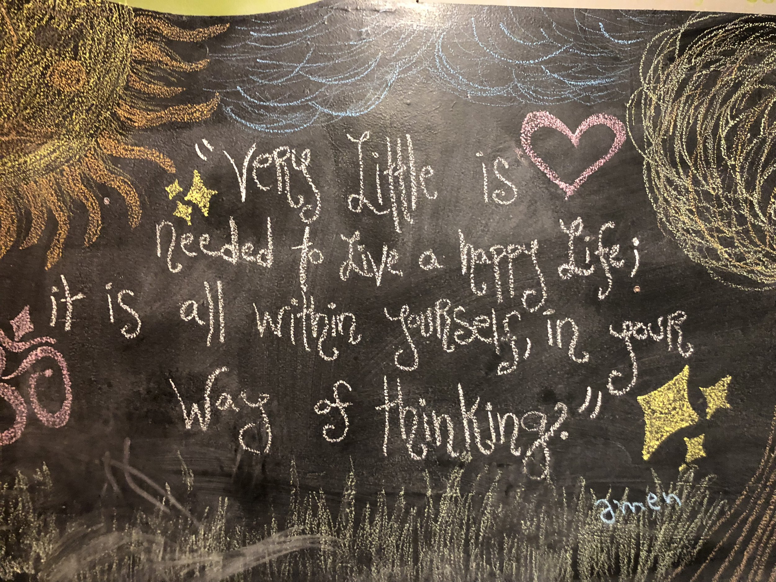 Chalkboard Art at Mead's Green Door Cafe