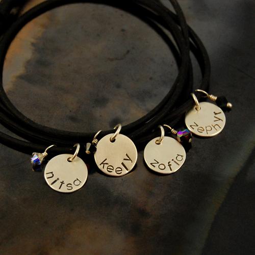 personalized silicone bracelet set of 4 2.jpg