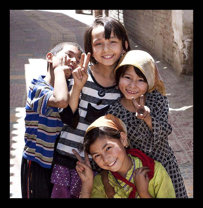 Uyghur Kids by DPerstin, Wikimedia Commons