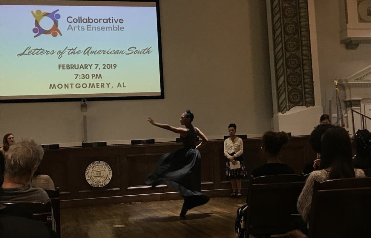 Dancer  Amber Pickens  performing with Collaborative Arts Ensemble in Montgomery, AL