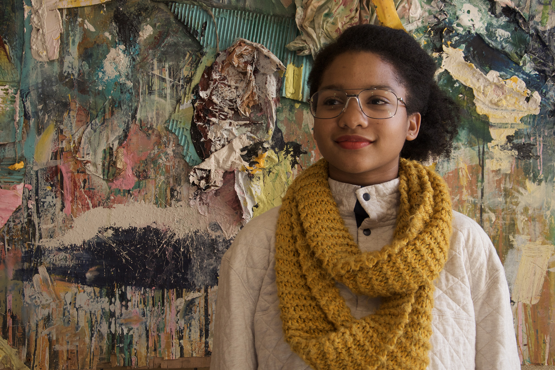 """MO NKOSI """"Whenever I'm upset, I like to visit Goodwill and get a 5 dollar sweater in a fall color."""""""