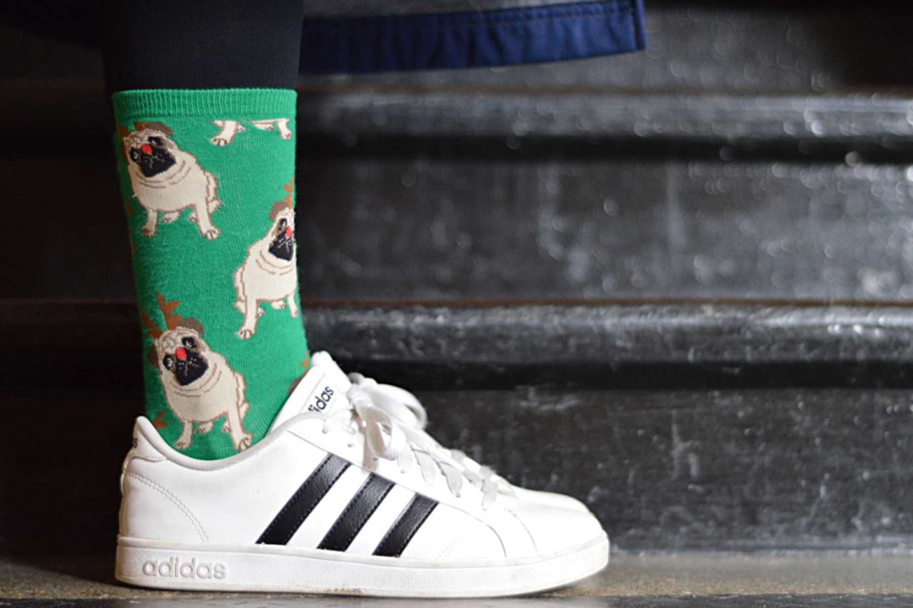 """QUINN KEATLEY """"Whenever I wear a plain outfit, I want to wear fun socks that make me happy. And these socks make me happy!"""""""