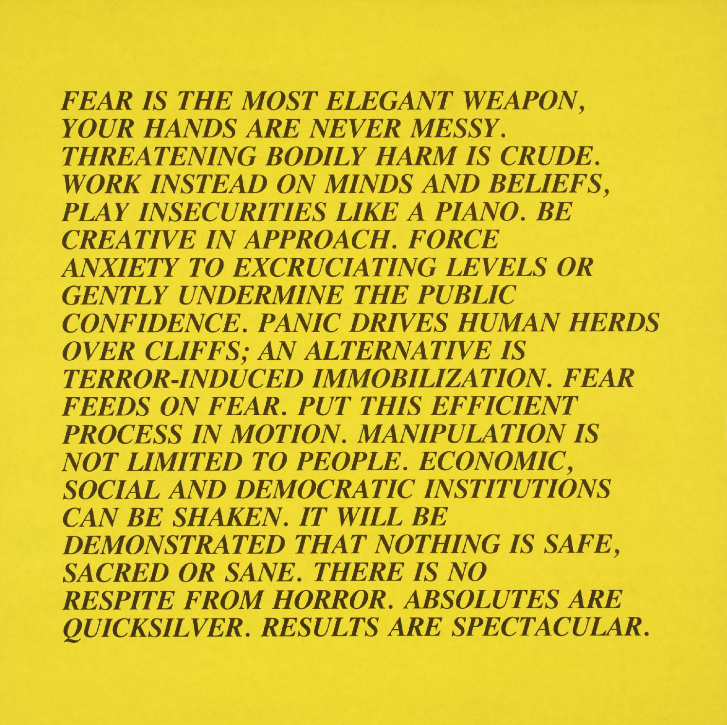 Inflammatory Essays , lithograph on paper, image: 431 x 431 mm, Tate, purchased 1983, P77391