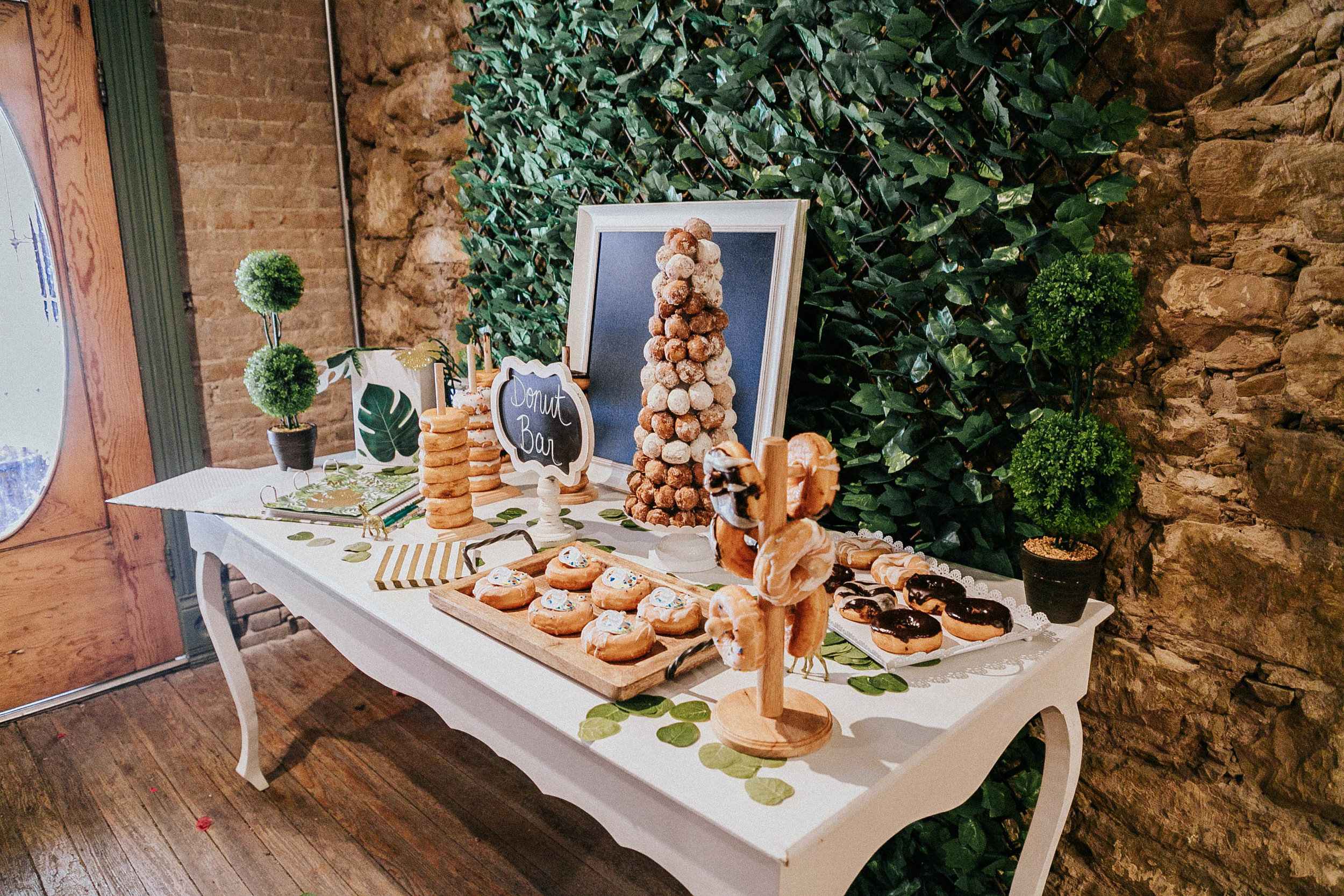 I was crazy about a Donuts bar, and here is the table!