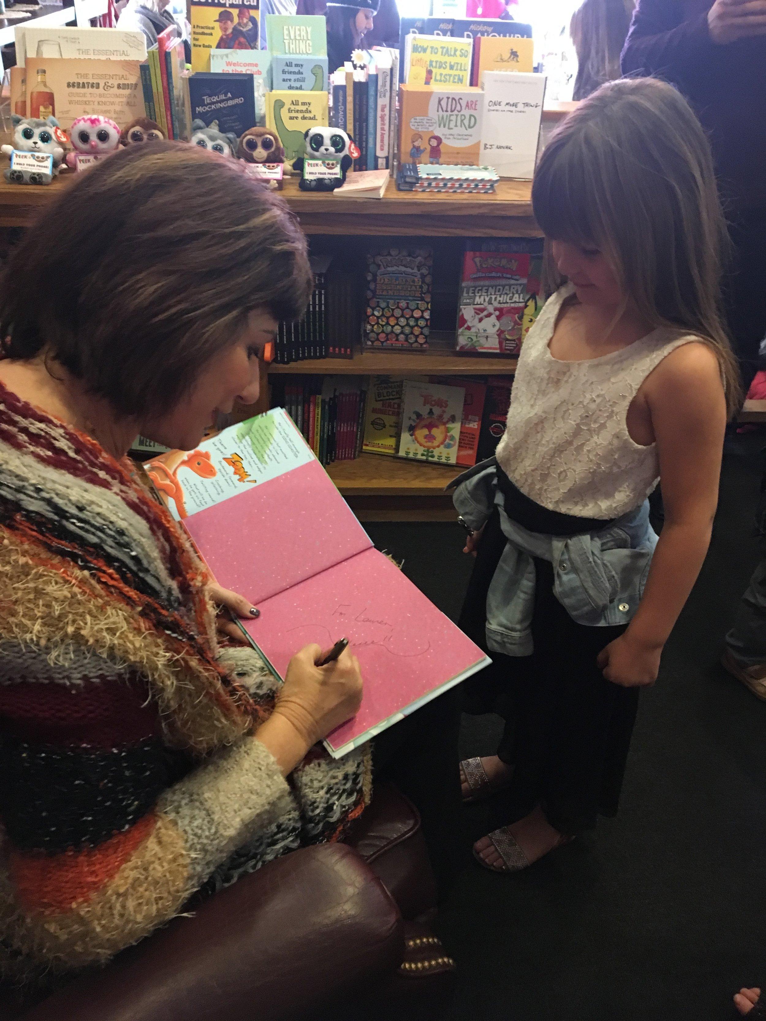a book singing at Frugal Frigate, Diane's local indie bookstore