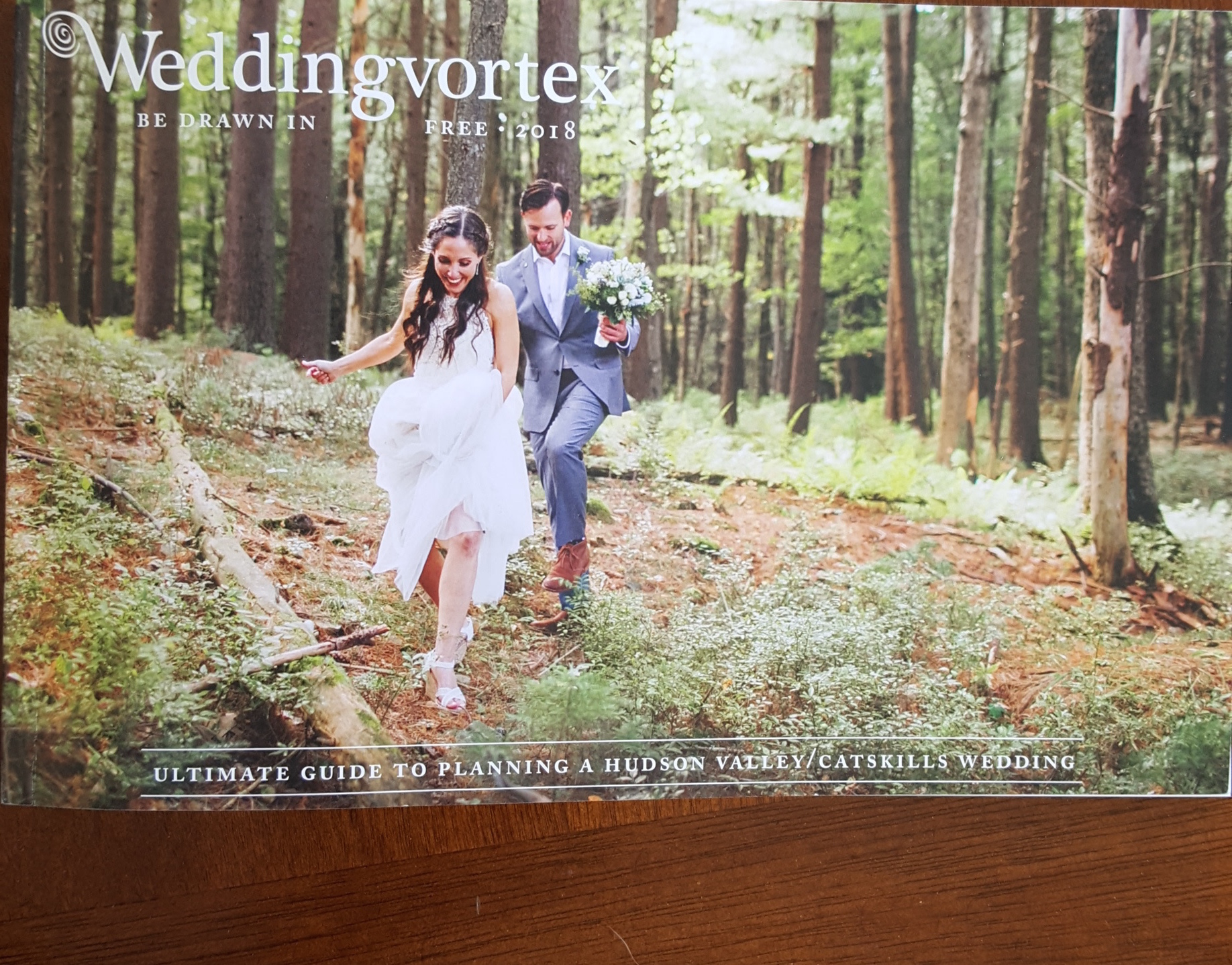 Pick up a copy of this free magazine at many local shops and restaurants. Or browse through the 2018 issue at  WeddingVortex.com .