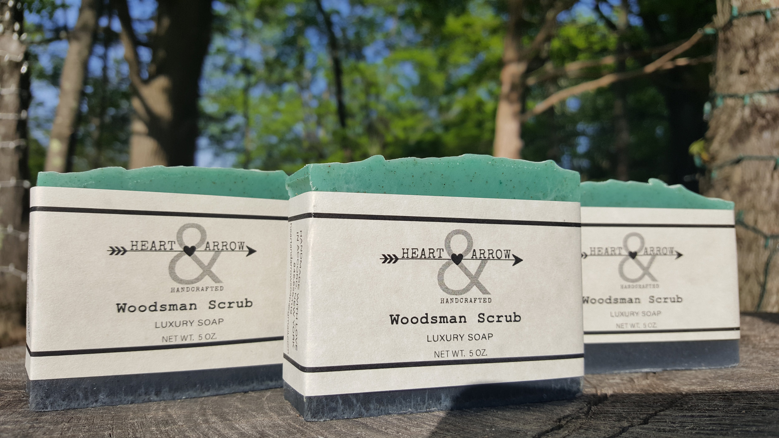 Woodsman Scrub ~ The ultimate man's soap, but amazing for anyone who loves the outdoors and wishes they were showering out in nature instead of in their shower. The best of both worlds.