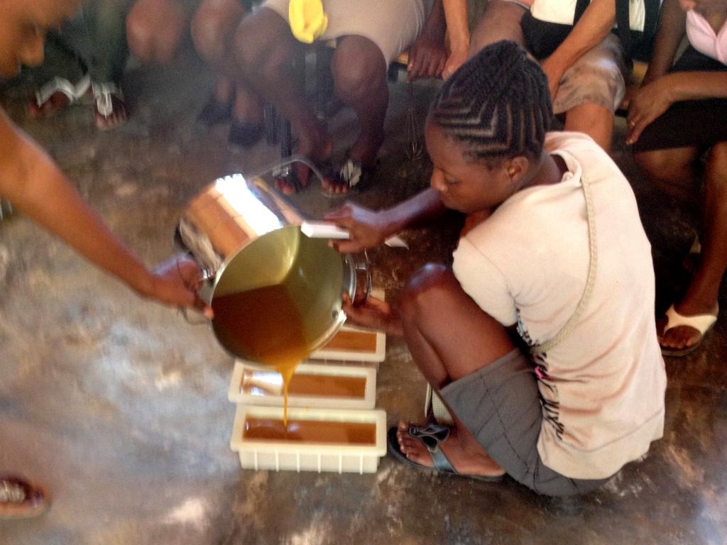 Soapmaking. Photo courtesy of  Lovinsoapproject.org