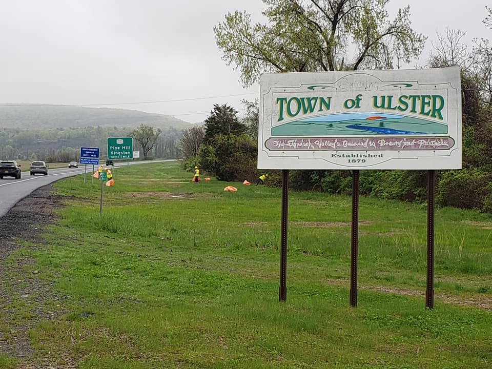 Spring cleaning our stretch of U.S. Highway 209, entering into Kingston, NY.