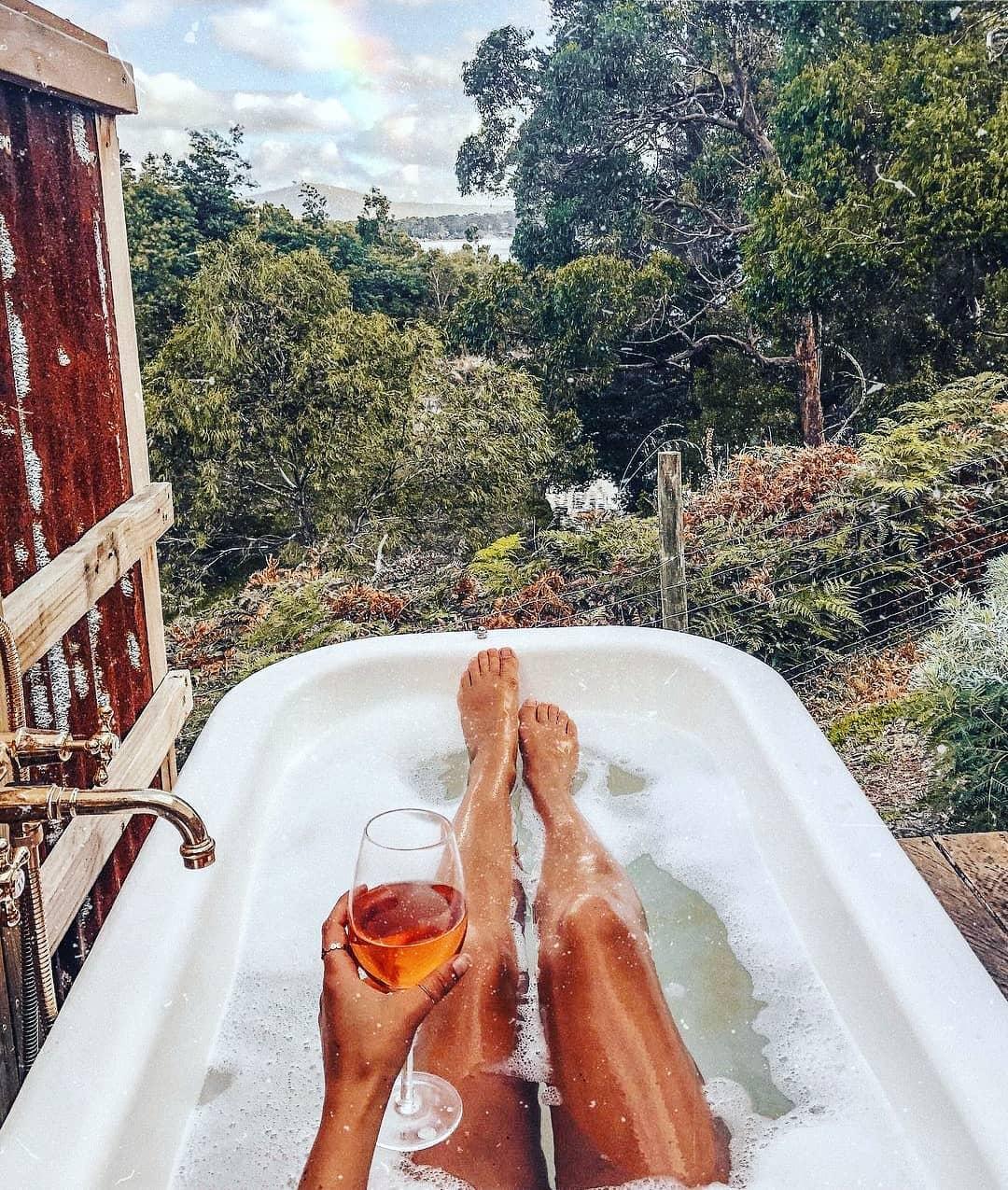 I'll be here… *sigh* Dream tub status. Photo by @eatplayshop