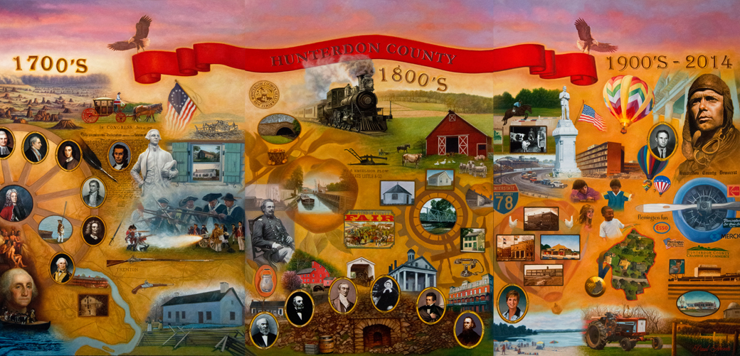 Hunterdon County Tricentennial Celebration, 7'x15'
