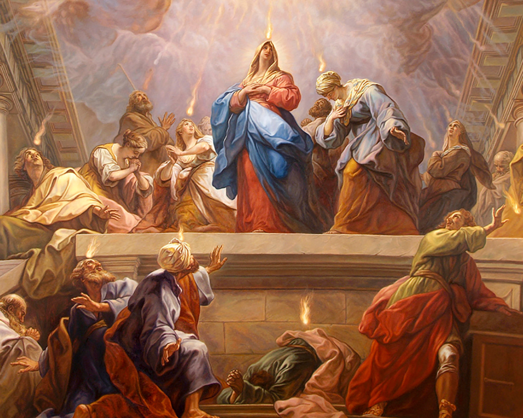 The Pentecost, Saint Magdalene's Church, Flemington, NJ, 8'x12'