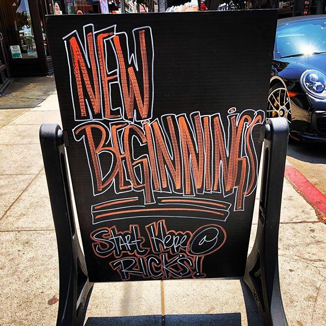 New Beginnings gotta start somewhere... @ricks_tavern_on_main  #newbeginnings #rtom #rickstavern #rickstavernonmain #staylocal #2907mainstreet #santamonicabars