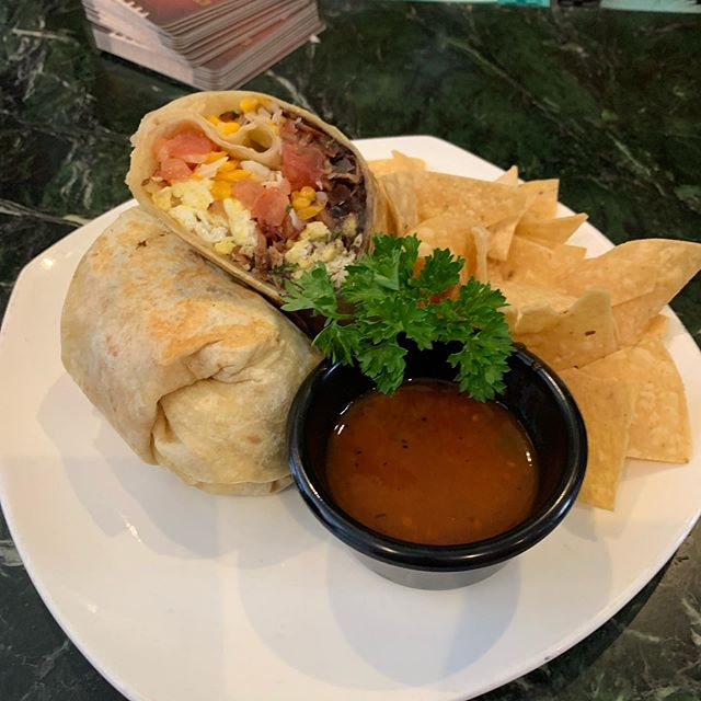 Our breakfast burrito is perfect for kick off of football season!